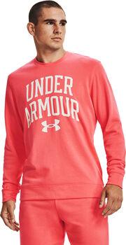 Under Armour Rival Terry Crew hoodie Heren Roze