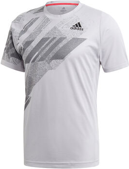 adidas FREELIFT PRINTED TENNIS T-SHIRT HEAT.RDY Heren Grijs