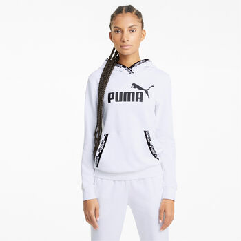 Puma Amplified hoodie Dames Wit