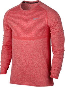 Nike Dri-FIT Knit Running longsleeve Heren Rood
