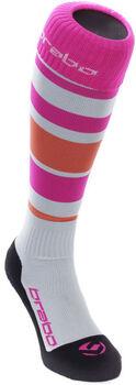Brabo Striped hockeysokken Dames Wit