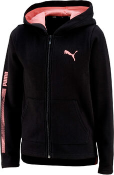 Puma Hooded Fullzip Fleece kids jack Jongens Zwart