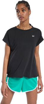 Reebok Workout Ready Supremium Detail t-shirt Dames Zwart