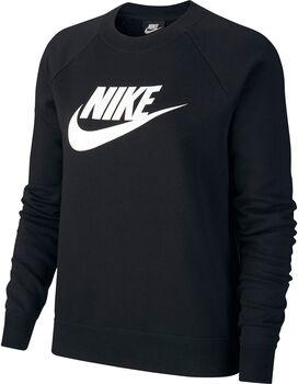 Nike Sportswear Essential Crew Fleece hoodie Dames Zwart
