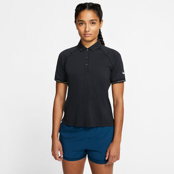 Nike Court polo Dames Zwart