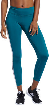 Reebok Workout Ready Logo legging Dames Groen