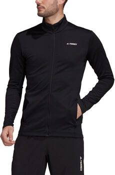 adidas Terrex Multi Primegreen Fleece Ritsjack Heren Zwart