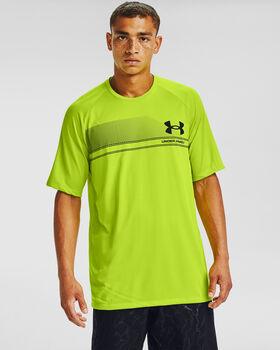 Under Armour Logo Wordmark Tech t-shirt Heren Groen