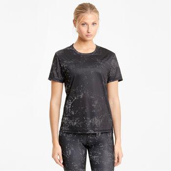 Puma Run Graphic shirt Dames Zwart
