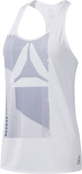Reebok One Series ACTIVCHILL Graphic top Dames Wit