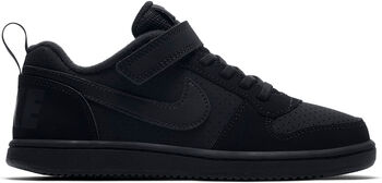 Nike Court Borough Low kleutersneakers Zwart
