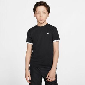 Nike Court Dry shirt Jongens Zwart
