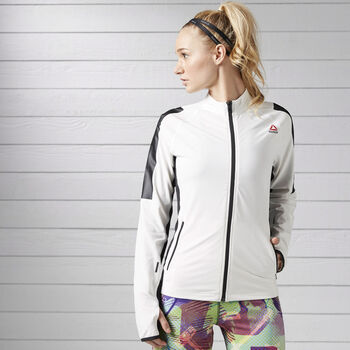 Reebok Track trainingsjack Dames Off white