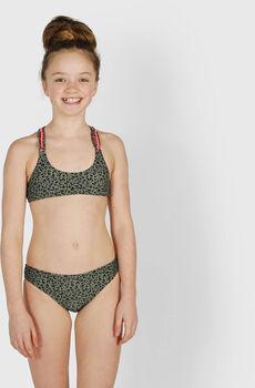 Brunotti Coralina-Leopard kids bikini Meisjes Groen