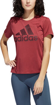 adidas Badge of Sport Logo t-shirt Dames Rood