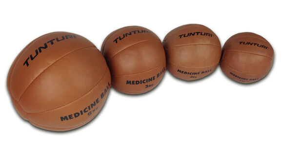 tunturi medicine ball synthetic leather 2kg