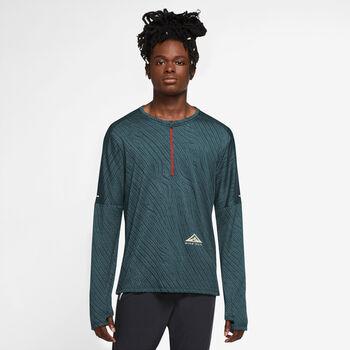 Nike Dri-FIT Element 1/2 Zip longsleeve Heren Groen