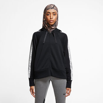 Nike Dri-FIT Fleece hoodie Dames Zwart