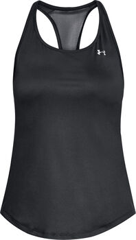 Under Armour HeathGear Armour Mesh top Dames Zwart