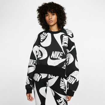 Nike Sportswear Fleece Crew sweater Dames Zwart