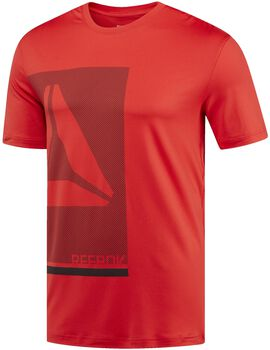 Reebok Workout Premium Graphic shirt Heren Rood