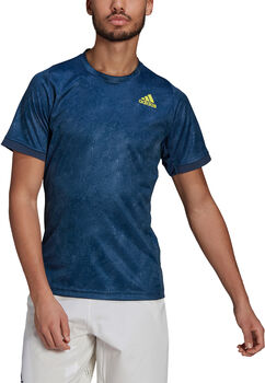 adidas Tennis Freelift Printed Primeblue T-shirt Heren Blauw