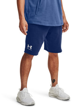 Under Armour Rival Terry short Heren Blauw