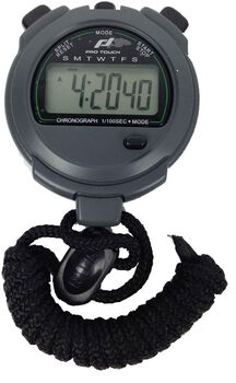 PRO TOUCH 2 Memories stopwatch Zwart