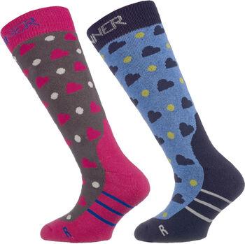 Sinner Ski sokken Jongens Roze