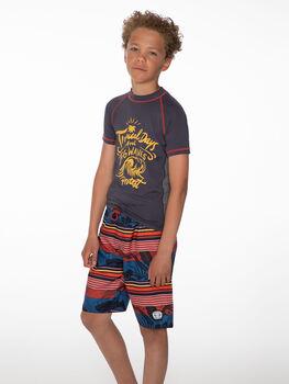Protest Cas kids UV zwemshirt Heren Grijs