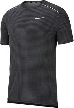 Nike Miler Tech shirt Heren Zwart