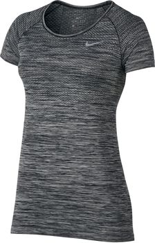 Nike Dri-FIT Knit shirt Dames Zwart