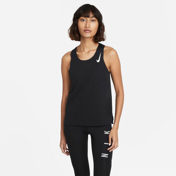 Nike Aeroswift singlet Dames Zwart