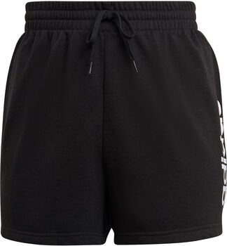 adidas Essentials Slim Logo Short (Grote Maat) Dames Zwart