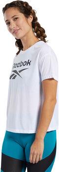 Reebok Workout Ready Supremium Logo shirt Dames Wit