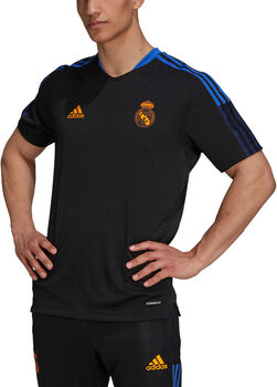 adidas Real Madrid Tiro trainingsshirt 21/22 Heren Zwart