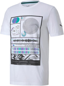 Puma Mercedes MAPM Graphic shirt Heren Wit