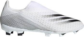 adidas X Ghosted.3 Laceless Firm Ground voetbalschoenen Heren Wit