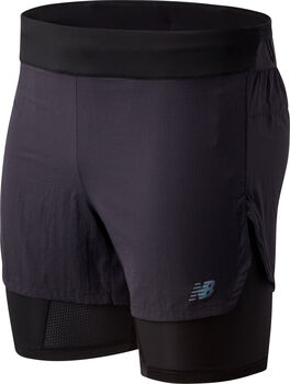 New Balance Q Speed 5inch 2-in-1 short Heren Zwart