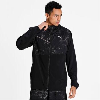 Puma Run Graphic hoodie jas Heren Zwart