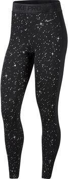 Nike Starry Night Metallic tight Dames Zwart