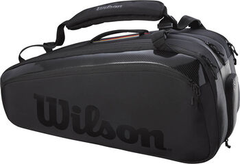 Wilson Super Tour 12 Pack Pro Staff tennistas Zwart