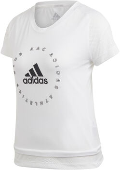 adidas Slim Graphic shirt Dames Wit