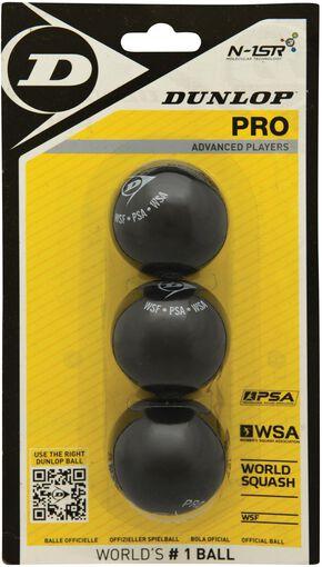 Dunlop - Pro Blister squashballen - Unisex - Accessoires - Geel - 1SIZE