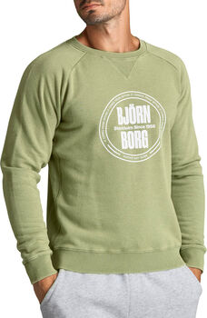 Björn Borg Borg Sport Crew sweater Heren Groen