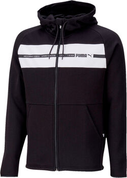 Puma Hooded FullZip Fleece II jack Heren Zwart