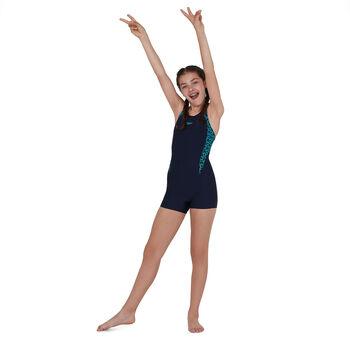 Speedo Boomstar Splice Legsuit badpak Meisjes Blauw