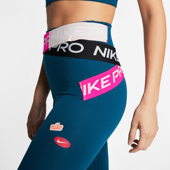 Nike One Luxe 7/8 legging Dames Blauw