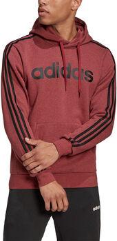 adidas Essentials 3-Stripes Pullover hoodie Heren Rood