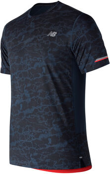 New Balance Printed Ice 2.0 shirt Heren Blauw